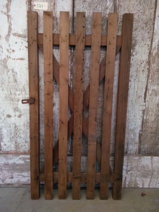121 Slatted Wood Door ~ $112