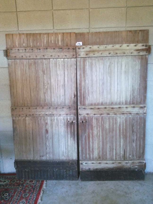 Pair of Vintage Bead Board Batten Door #186 - $450