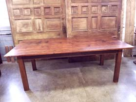 DT-101 Reclaimed Antique Pine Farm Table