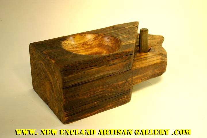 #SSB-0302 Hand Turned Pine Beam Bowl w/1 Original Peg