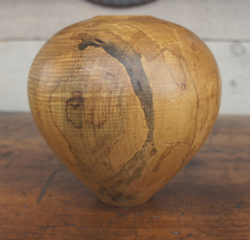 SSB-0338 Spalted Tiger Maple Hollow Form ~ $350