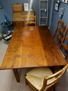 5 ft farm table - top full view