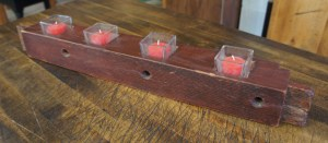 ACC-2113 Oak Rope Bed 4 Tea Light